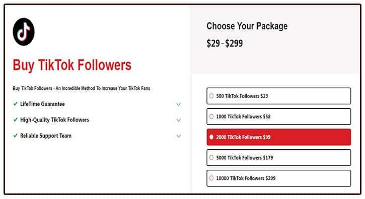 how to buy tiktok followers