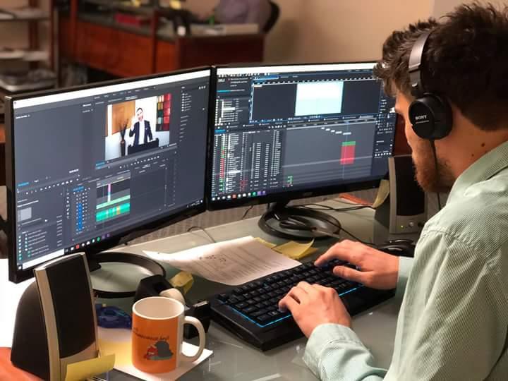using video editing app to edit video