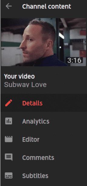 using youtube video editor