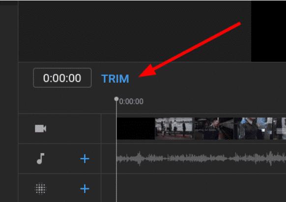 using trim on youtube video editor